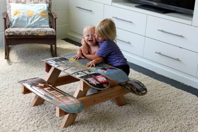 DIY-Möbel-Skateboard-Kinderzimmer-Möbel-Tisch