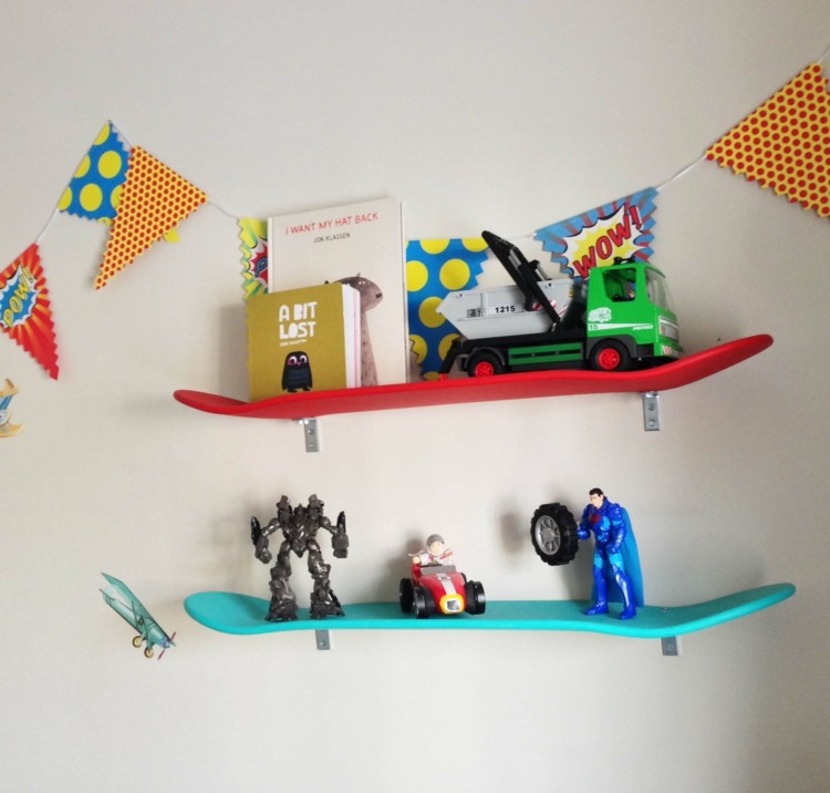 Diy Mobel Skateboard Wandregale Kinderzimmer Die Lifehacks De