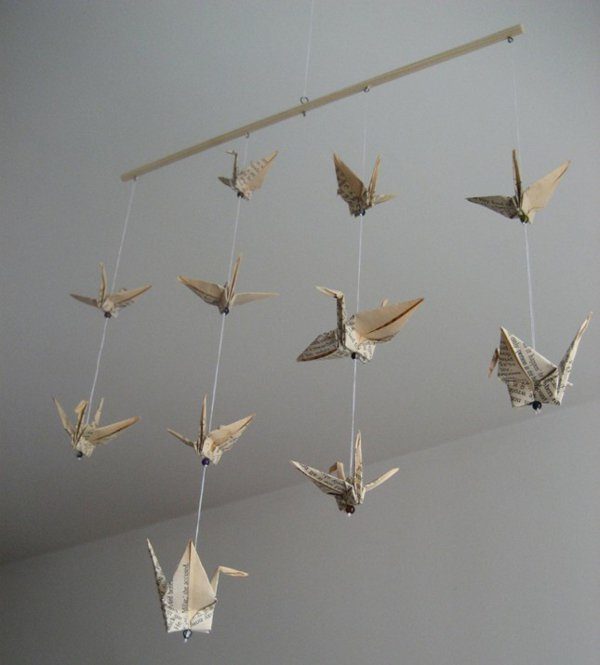 Dekoration Mit Buchern Origami Baby Mobile Die Lifehacks De